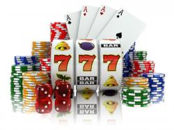 casino slots, chips, dice and cards